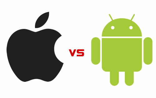 iOS Logo vs Android logo