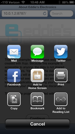 iOS Share Screen