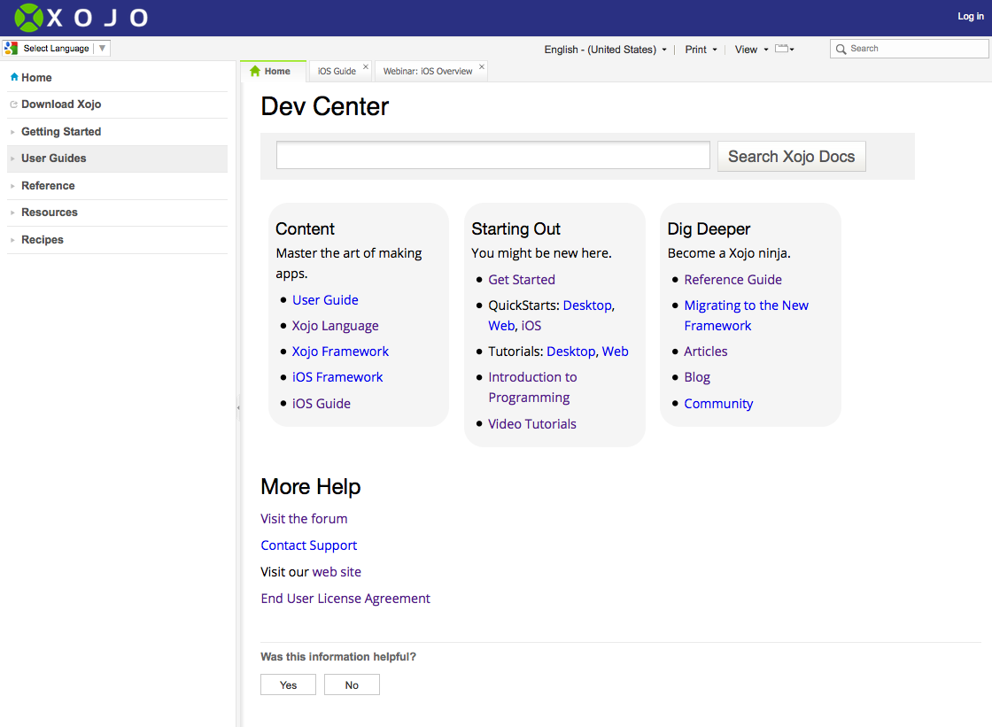 Dev_Center_Home_Page