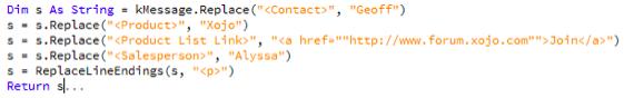html xojo