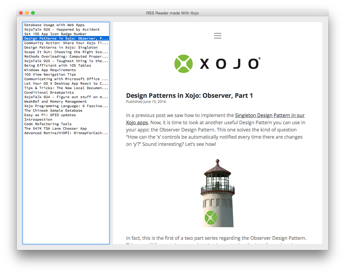 Final RSS Reader Made In Xojo