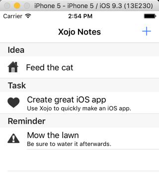 Xojo Notes App